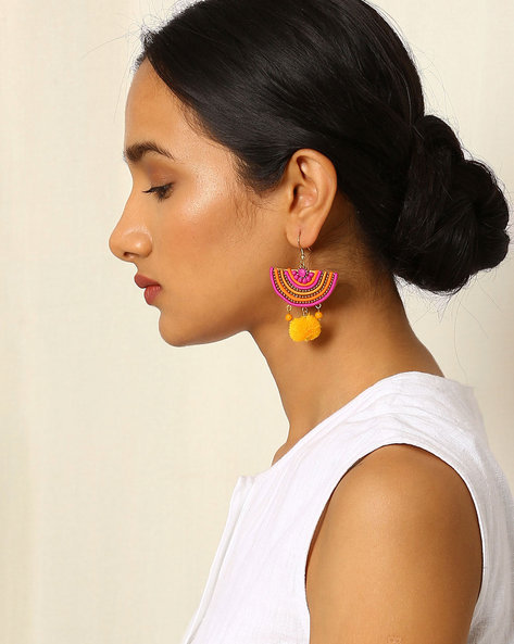 Crescent-Shaped Beaded Drop-Earrings By Indie Picks ( Multi ) - 460042525001