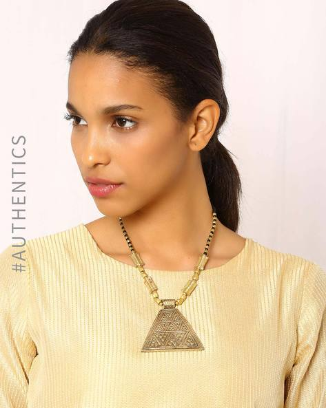 Handcrafted Dhokra Brass Necklace By Indie Picks ( Gold ) - 460016961001