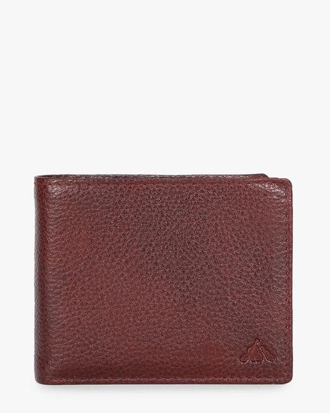 Genuine Leather Textured Bi-Fold Wallet By ALVARO CASTAGNINO ( Brown ) - 460135650001