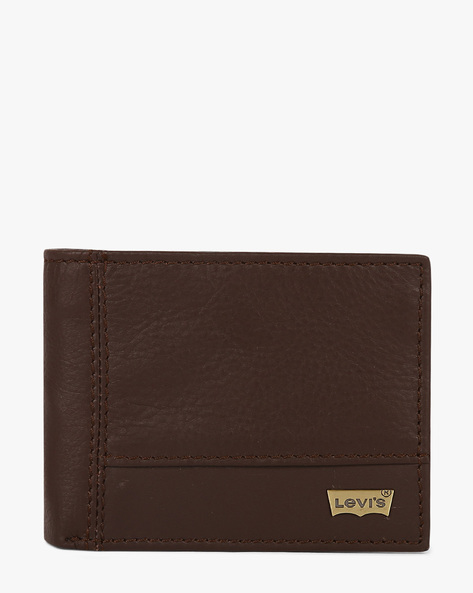 Faux Leather Bi-Fold Wallet By LEVIS ( Brown )