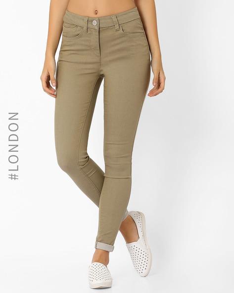 Slim Fit Jeggings By Marks & Spencer ( Khaki )