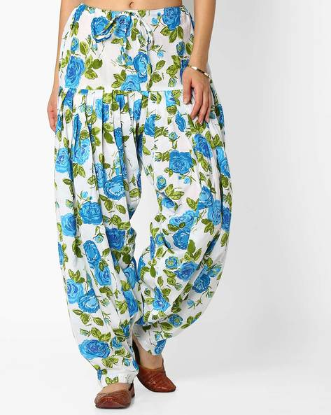 Floral Print Patiala Pants With Dupatta Set By Stylenmart ( Multi ) - 460033312001