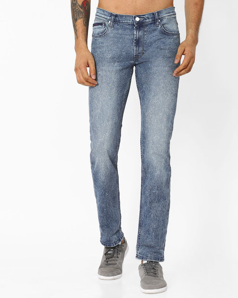 Lightly Washed Slim Fit Jeans By Lee ( Dkblue )