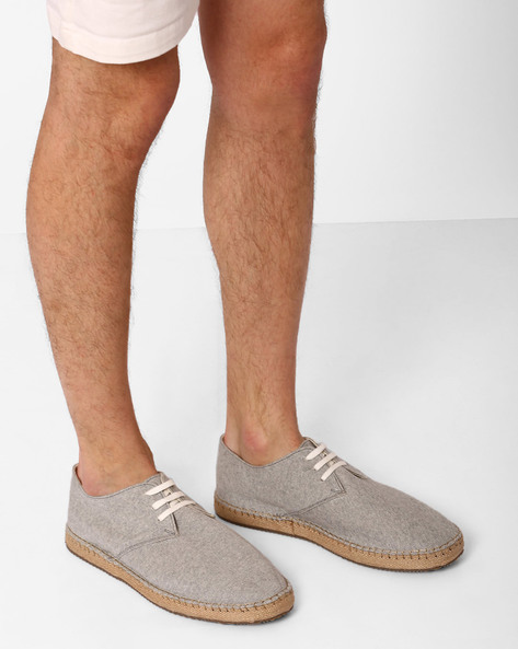 Lace-Up Espadrilles By Hats Off Accessories ( Grey )