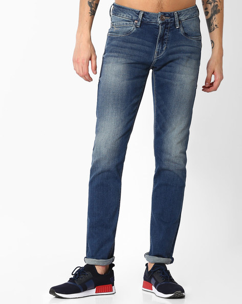 Mid-Rise Slim Fit Jeans By FLYING MACHINE ( Blue ) - 460057406002
