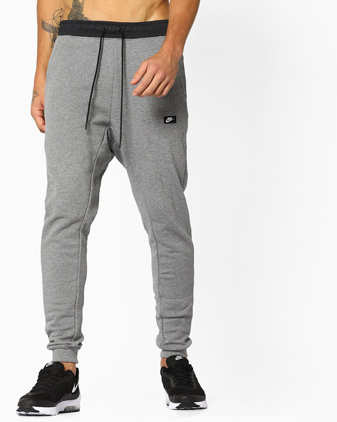 Joggers With Elasticated Waist By NIKE ( Grey )