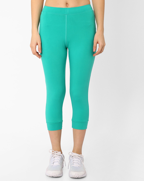 Lounge Capris With Tie-Up By Sweet Dreams ( Green )