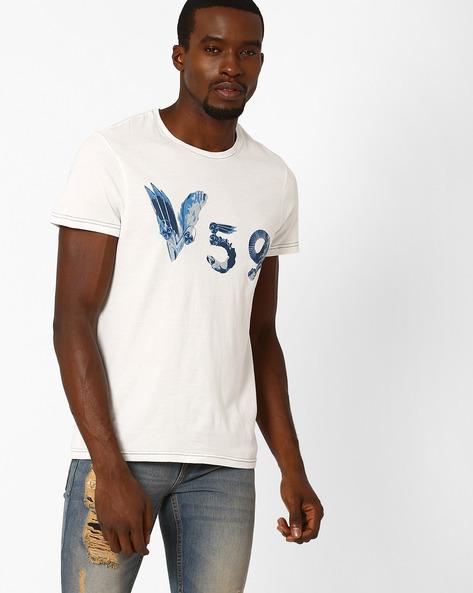 Industrial Print T-shirt By AJIO ( Offwhite )