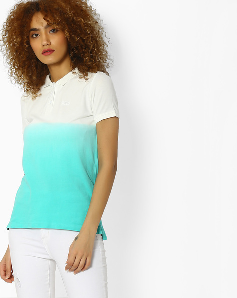 Polo T-shirt With Dyed Effect By Lee ( Blue )