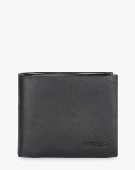 Genuine Leather Bi-fold Wallet By ALVARO CASTAGNINO ( Black )