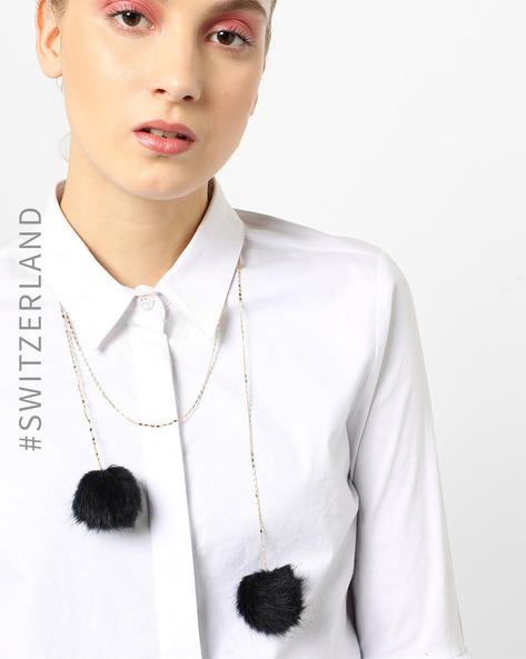 Necklace With Faux-Fur Pom-Poms By TALLY WEiJL ( Black )