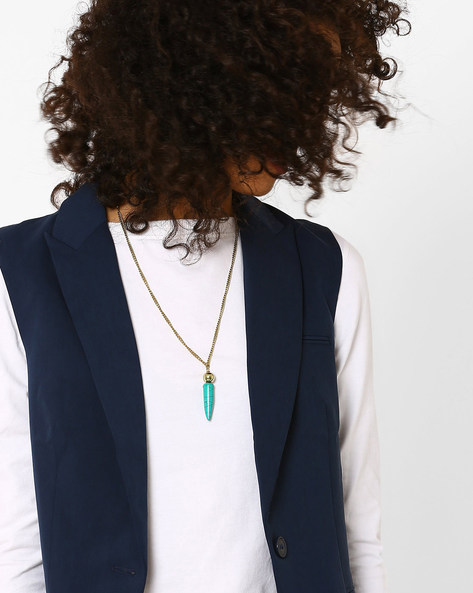 Adjustable Chain With Pendant By AJIO ( Green )