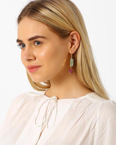 Ruby And Kyanite Drop-Earrings By AJIO ( Multi )