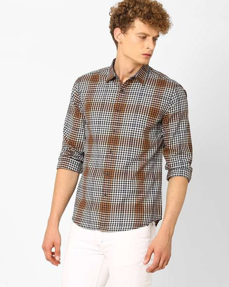Yarn-Dyed Checked Shirt By Lee ( Brown )
