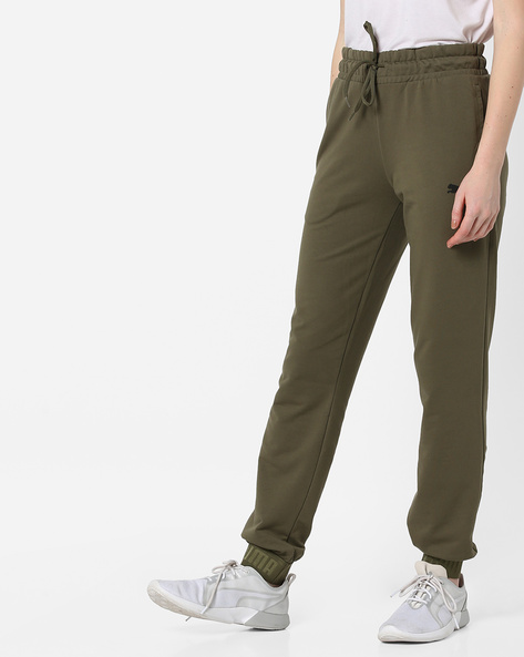 Jogger Pants With Insert Pockets By Puma ( Olive )
