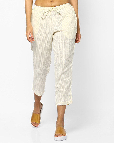 Striped Ankle-Length Pants By PE IW Evening ( Offwhite )