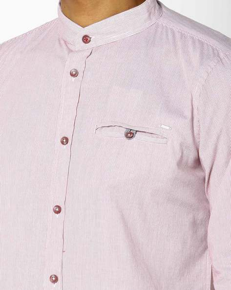Striped Shirt With Curved Hem By GAS ( 1378 )