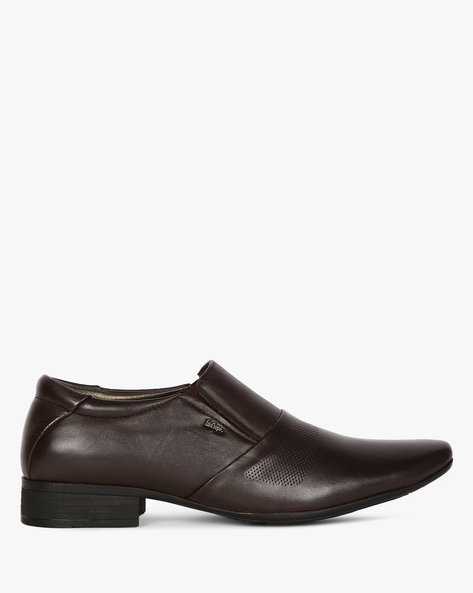 Genuine Leather Formal Slip-On Shoes By Lee Cooper ( Brown )
