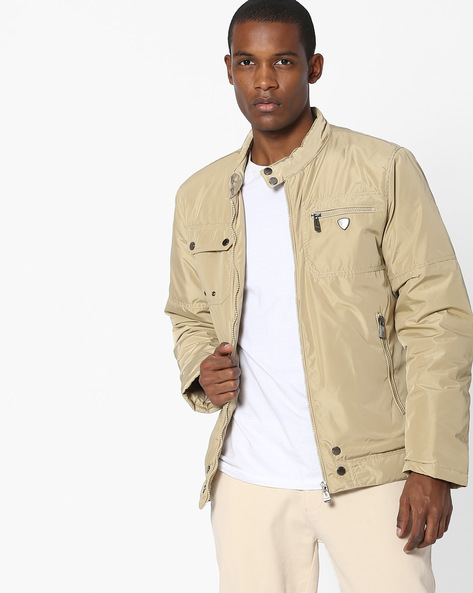 Open-Front Bomber Jacket By Killer ( Beige )