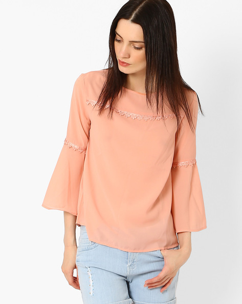 Top With Bell Sleeves By Femella ( Rose )