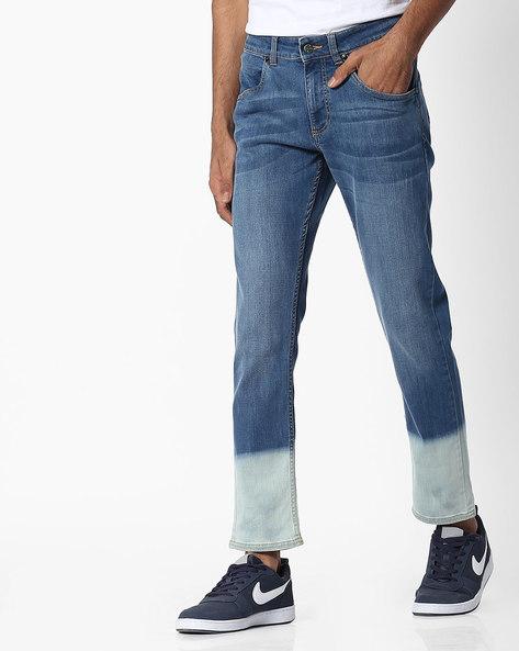 Slim Fit Jeans With Ombré Effect By Blue Saint ( Lightblue )