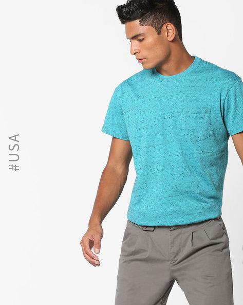 Heathered T-shirt With Patch Pocket By Aeropostale ( Aqua )