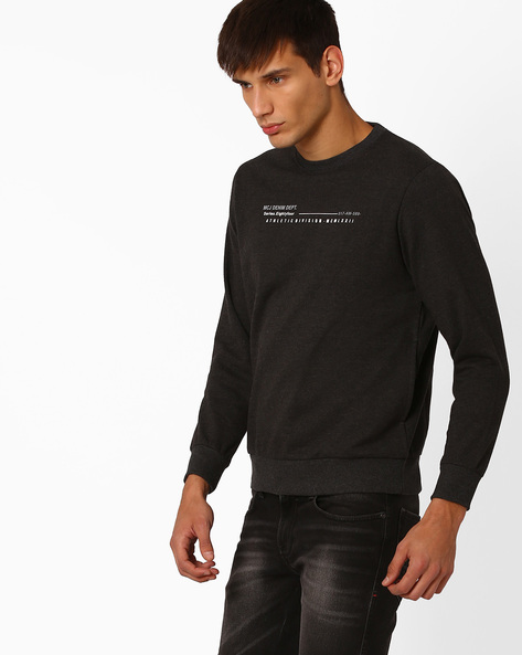 Regular Fit Sweatshirt With Graphic Print By MONTE CARLO ( Assorted )