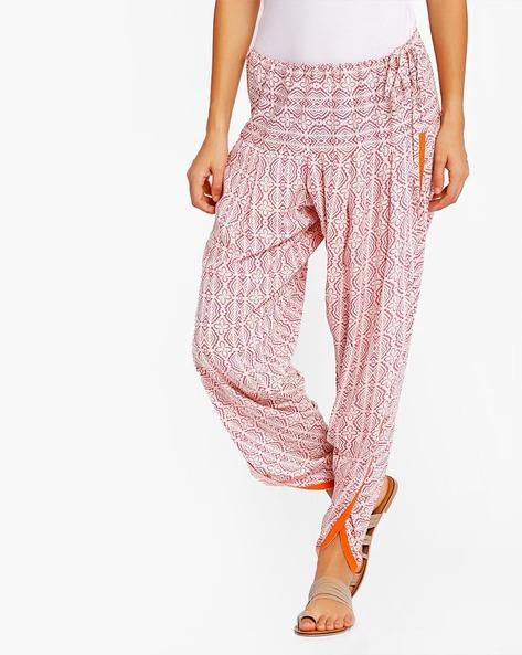 Printed Dhoti Pants By AJIO ( Pink )