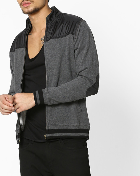 Cut & Sew Sweatshirt With Front Closure By FLYING MACHINE ( Assorted )