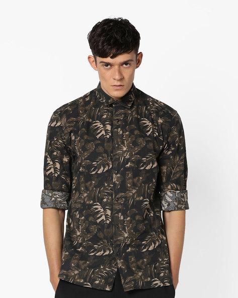 Jjvc Tropical Print Slim Shirt By Jack & Jones ( Multi )