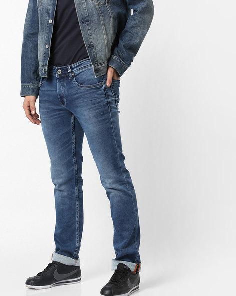 Ethan Lightly Washed Slim Fit Jeans By Killer ( Darkblue )