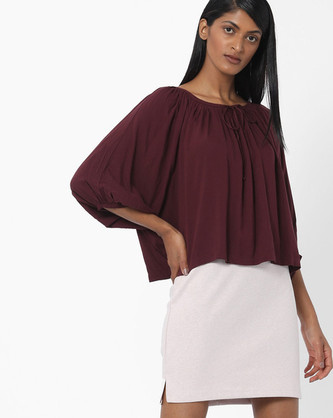 Boxy Top With Raglan Sleeves By LEVIS ( Purple )