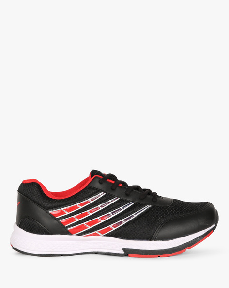 Colourblock Lace-Up Sports Shoes By SPARX ( Black )
