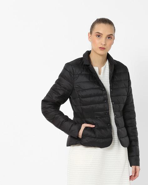Padded Jacket With Insert Pockets By Vero Moda ( Black )