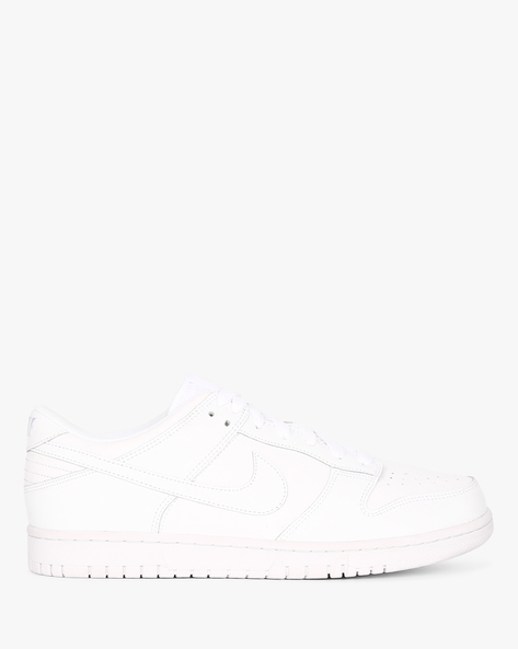 Dunk Low Sneakers With Lace-Up Styling By NIKE ( White )
