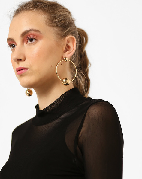 Gold-Toned Hoop Earrings By TALLY WEiJL ( Gold )