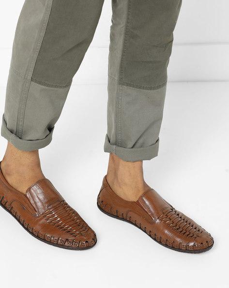 Genuine Leather Slip On Shoes By BUCKAROO ( Tan )
