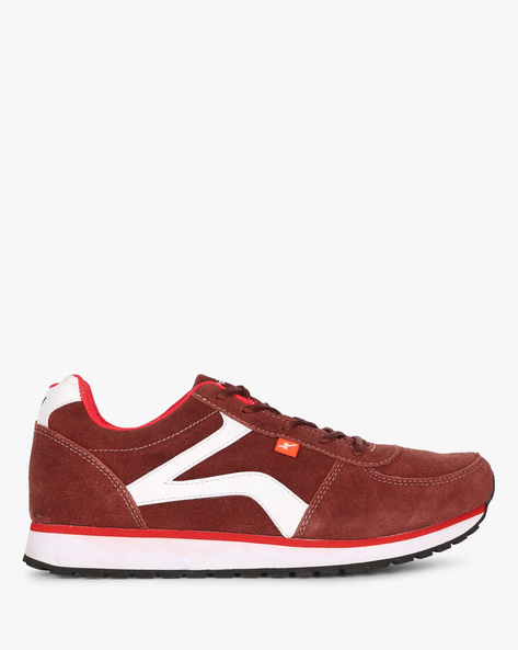 Panelled Lace-Up Sports Shoes By SPARX ( Cherry )