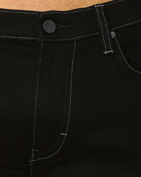 Lee black mid rise skinny fit jeans (bruce)