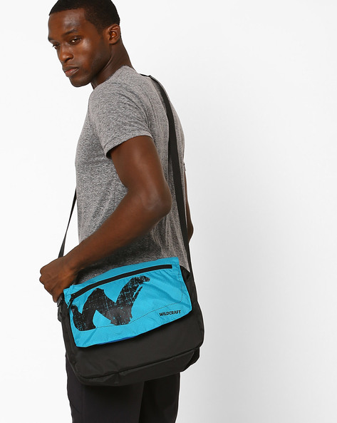 Printed Messenger Bag By Wildcraft ( Blue )