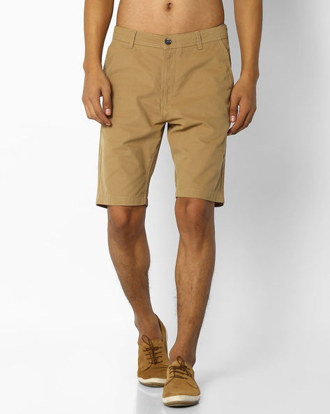 Basic City Shorts With Side Pockets By NETPLAY ( Khaki )