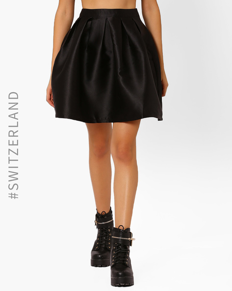 Skater Skirt With Box Pleats By TALLY WEiJL ( Black )
