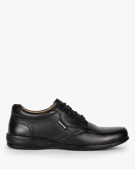 Textured Leather Casual Shoes By RED CHIEF ( Black )