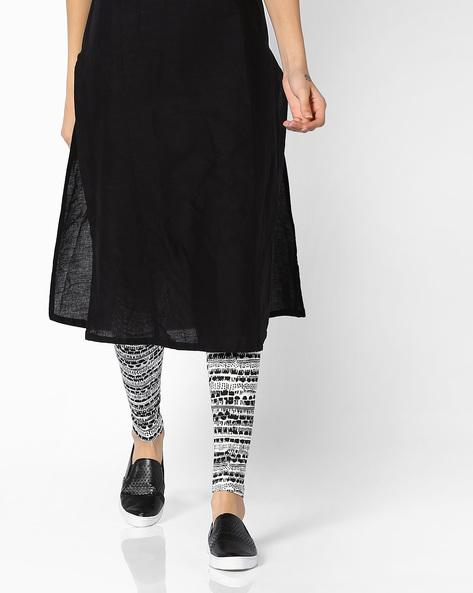 Mid-Rise Printed Leggings By Global Desi ( Printed )