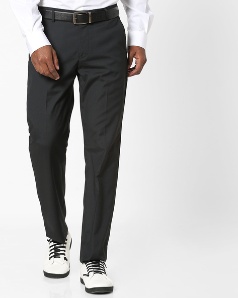 Flat-Front Formal Trousers By NETWORK ( Black )