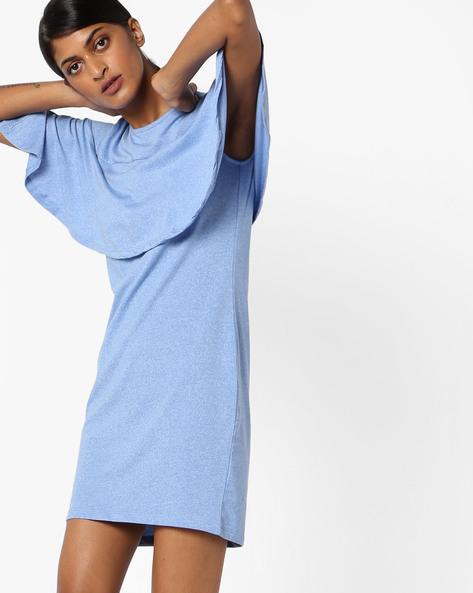 Layered Shift Dress By AJIO ( Blue )