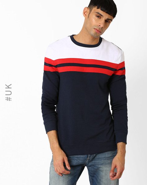 Crew-Neck Regular Fit Sweatshirt By Another Influence ( Navy )