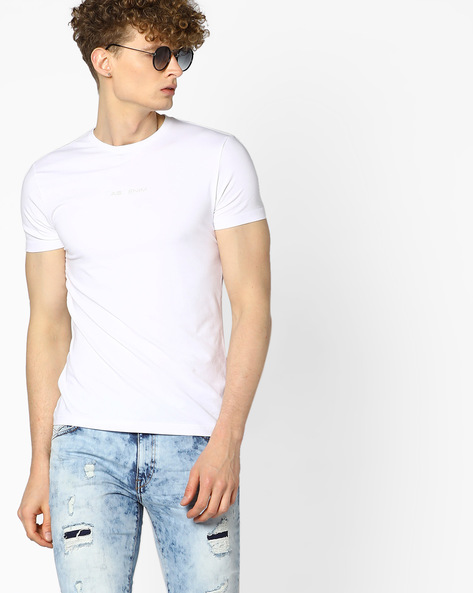 Slim Fit Crew-Neck T-shirt By GAS ( 0001 )