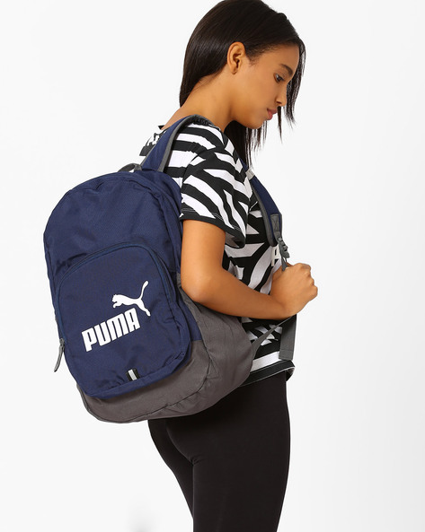 Printed Backpack By Puma ( Navy )