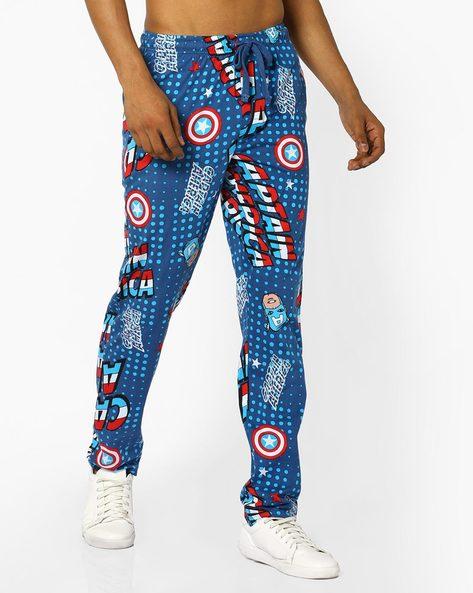 Printed Pyjamas With Elasticated Waist By Free Authority ( Darkblue )